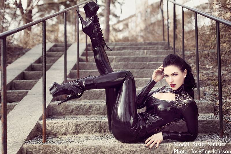 STEP SISTER: Sister Sinister out and about in Westward Bound catsuit (pic: Josefine Jönsson)