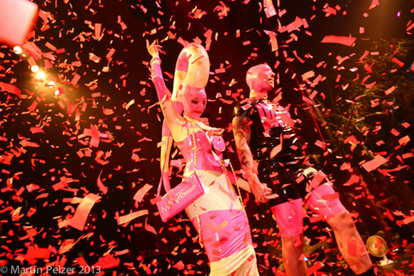 RED OCTOBER: Latex finale from Dayne Henderson on Torture Garden 2013 Halloween Ball catwalk (Martin Pelzer)