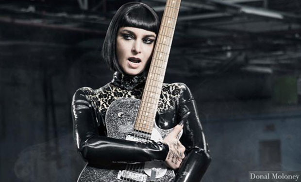 YES, MISTRESS: Sinéad O'Connor wearing Westward Bound latex dress, in the image chosen for the cover of her new album, I'm Not Bossy, I'm The Boss, due out on August 12 (photo: Donal Moloney)