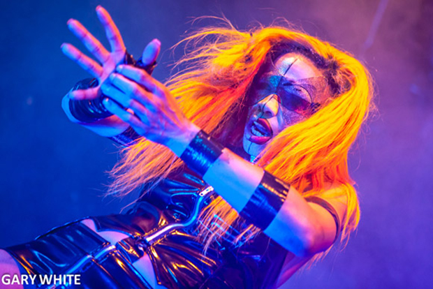 BLUE MEANING: London's MisSa Blue performs at December 2013 Wasteland (photo: Gary White)