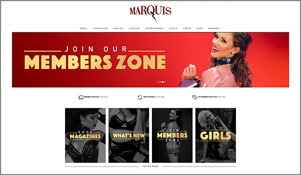 MARQUIS WEBSITE LAUNCH