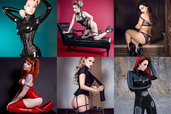 First six resident models at Terminal F are Kay Morgan, Lotte LaVey, Madmoiselle Peachy, Psylocke, Sister Sinister and Starfucked