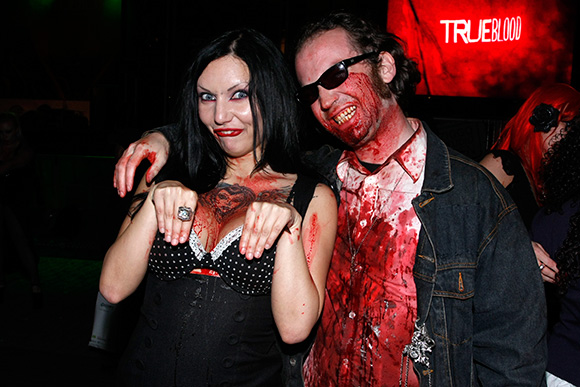 Monique Charriere and Peter Diablow after a Bloodsquad performance