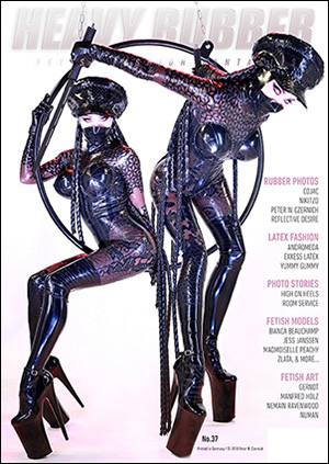 Heavy Rubber reboot – cover of new issue 37 depicting Kurage latex