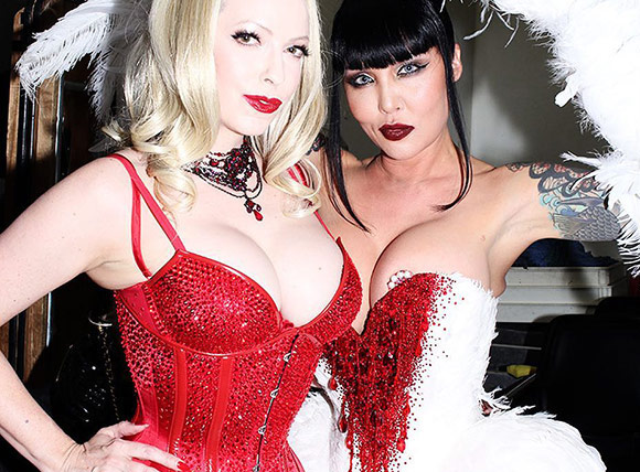 Emily Marilyn and Masuimi Max at the Sugared Kiss mag launch party in Las Vegas