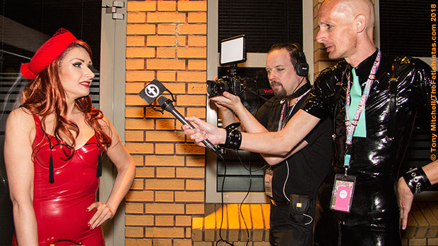 May Editorial: Sinteque interviews by Fetishistas video crew Nikdesign and peter Monochrome at Sonic Boom during GFB Weekend