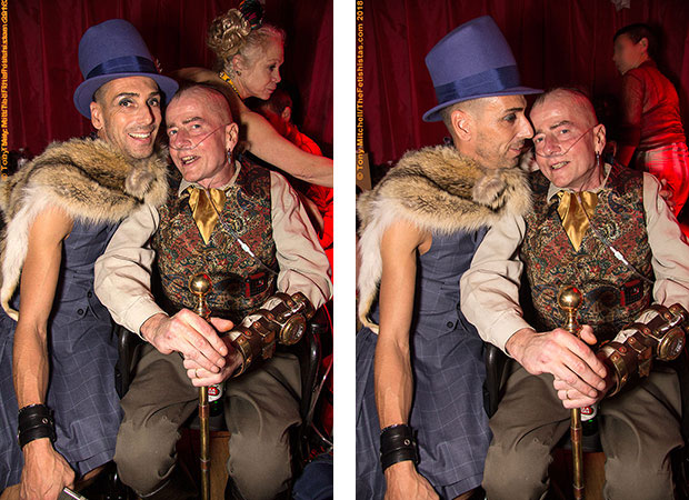 London Todd with Dave Playpenz at the final Subversion party