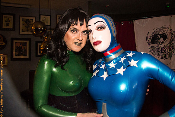 Eve and Katrina at the Final Rubber Cult party, October 2018