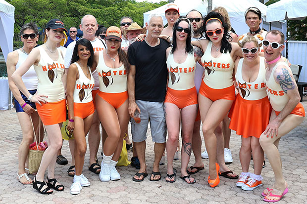 Florida Fetish Weekend host Glenn Catapano (centre) and 2019's 'Hooters Gang' (photo: Warfare01)