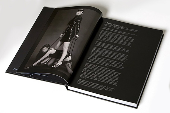 Spread from Swedish Fetish featuring photographer Andrea Belluso's introduction to the book