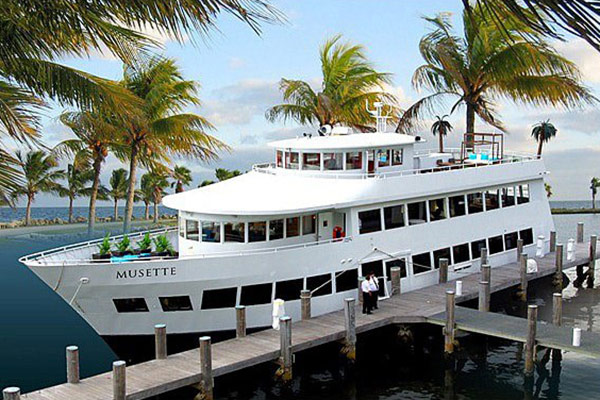 Florida Fetish Weekend's Cruise will take place aboard the Musette, above, if Covid crisis restrictions allow the weekend to go ahead