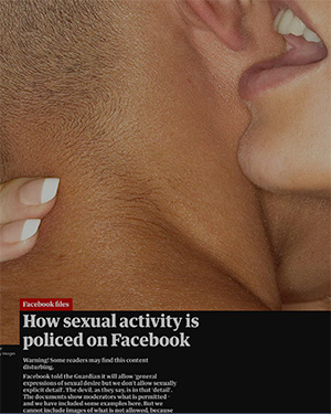 Revived: Guardian 2017 article on how sexual activity is policed on Facebook