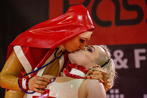 PASSION FAIR: daytime performances are a big feature of this Hamburg BDSM & fetish fair