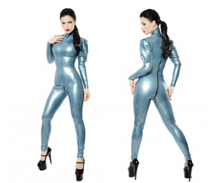Catsuit in Pearlsheen Steel blue