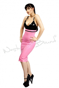 Pink and black bra cup dress