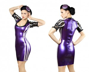 Pearlsheen purple and white dress